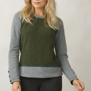 Prana Recycled Wool Blend Cable knit Aya Sweater